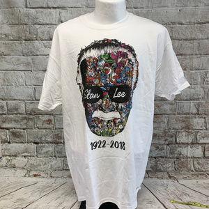 Stan Lee Mens Memorial Tee Size XL White NWT